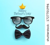 happy father's day poster with...   Shutterstock .eps vector #1727701996