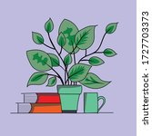 vector art of a plant with a... | Shutterstock .eps vector #1727703373