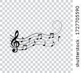 music notes  symbols  design...   Shutterstock .eps vector #1727705590