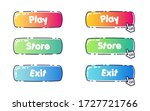set of rounded cartoon colorful ...
