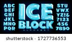 Ice Block Alphabet  A Vector...