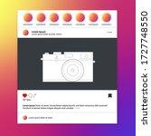 video frame for social networks....