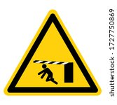 warning moving gate can cause...   Shutterstock .eps vector #1727750869