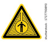warning confined space symbol... | Shutterstock .eps vector #1727750893