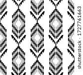 ikat seamless pattern  as cloth ...   Shutterstock .eps vector #1727761663