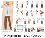 set of old businessman...   Shutterstock .eps vector #1727764906