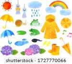 Rainy Season Illustration Set ...