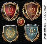 anniversary golden shields | Shutterstock .eps vector #172777034