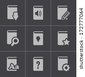vector black books icons set on ...