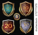 anniversary golden shields | Shutterstock .eps vector #172777370