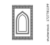 prayer rug icon on white... | Shutterstock .eps vector #1727781199