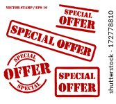 special offer vector stamps set | Shutterstock .eps vector #172778810