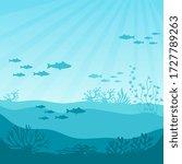 undersea coral reef. undersea... | Shutterstock .eps vector #1727789263