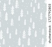 winter forest scandinavian hand ... | Shutterstock .eps vector #1727792803