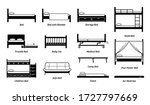 different types of bed design ... | Shutterstock .eps vector #1727797669