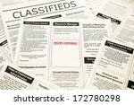 newspaper with advertisements... | Shutterstock . vector #172780298