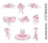 ballet accessories with tutu... | Shutterstock .eps vector #1727806333