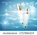 3d elegant cosmetic bottle...   Shutterstock .eps vector #1727806519