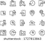 set of food delivery icons ... | Shutterstock .eps vector #1727813863