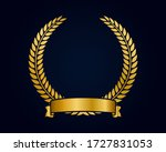 golden emblem template for logo.... | Shutterstock .eps vector #1727831053