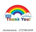 thank you nhs and key workers | Shutterstock .eps vector #1727841949