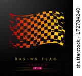 Grungy Colored Racing Flag