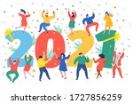 new year party concept.... | Shutterstock .eps vector #1727856259