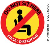 do not sit here sign for... | Shutterstock .eps vector #1727856400