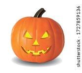 pumpkin in halloween with the... | Shutterstock .eps vector #1727859136