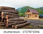 A Log Heap Near A Construction...