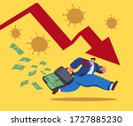 running business man character... | Shutterstock .eps vector #1727885230