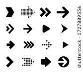 flat design vector arrows and... | Shutterstock .eps vector #1727889556