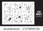 star doodles set. hand drawn... | Shutterstock .eps vector #1727890720