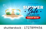 summer sale design with exotic... | Shutterstock .eps vector #1727899456