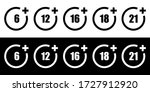 set of age restriction signs.... | Shutterstock .eps vector #1727912920