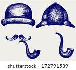 sherlock holmes. icon detective.... | Shutterstock .eps vector #172791539
