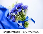 Greeting Card Mockup. Bouquet...