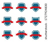 shields set  icons. graphic... | Shutterstock .eps vector #1727924830
