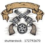 western guns with scroll and... | Shutterstock .eps vector #172792670
