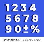 set 3d of figures of white... | Shutterstock .eps vector #1727934700