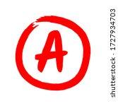 vector a red grade mark... | Shutterstock .eps vector #1727934703