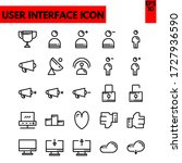 illustration of ui flat icon