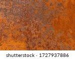 Orange Textured Old Rusty Meta...