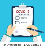 form of covid report. medical... | Shutterstock .eps vector #1727938636
