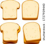 vector bread  toast  sliced... | Shutterstock .eps vector #1727939440