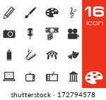 Vector Black Art Icons Set On...