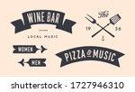 vintage graphic set. set of... | Shutterstock .eps vector #1727946310