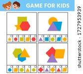 education logic game for kids... | Shutterstock .eps vector #1727953939