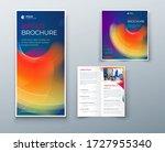 bi fold brochure design with... | Shutterstock .eps vector #1727955340