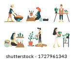 People Gardening. Man And Woman ...